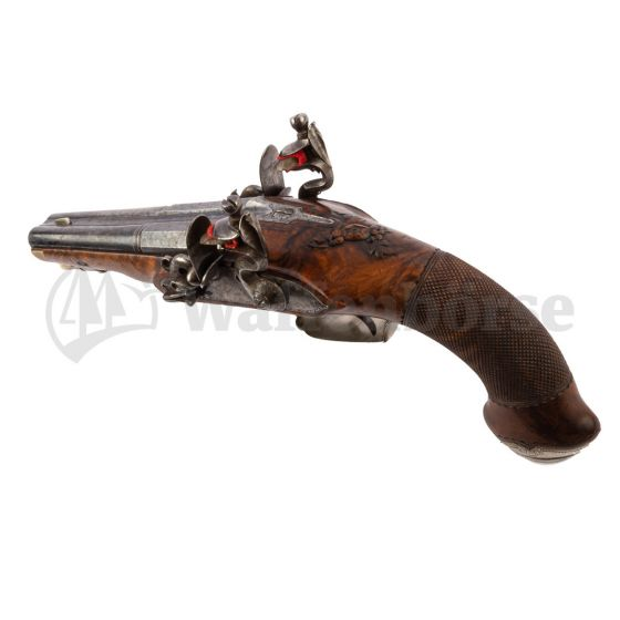 Anschütz - Suhl Doppelläufige - Steinschloss Pistole 13mm glatt