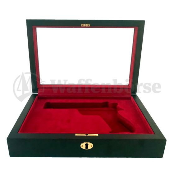 Holzschattulle Exklusiv rot  für für SIG Pistole 210