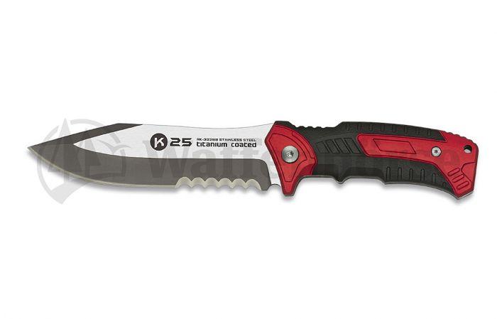 K25  Knife Tactical Serration Red