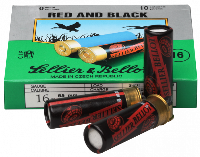 SELLIER&BELLOT Schrotpatrone 16/65 Red & Black No 3  3,50mm 28,4g