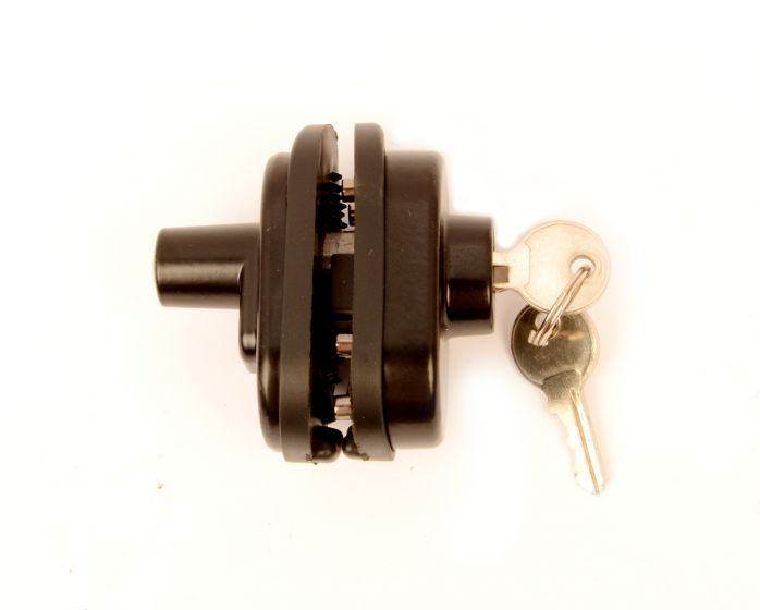 Abzugschloss mit Schlüssel schwarz