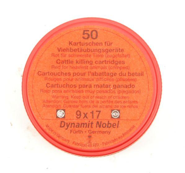 RWS Dynamit Nobel Viehschuss 9x17mm schwerste Tiere rot