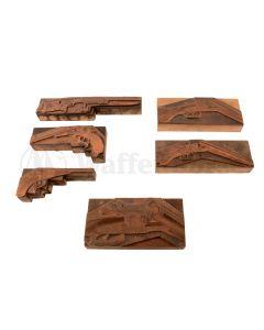 Konvolut - Druckerplatten - Messing Beretta