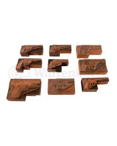 Konvolut - Druckerplatten - Messing Smith & Wesson Pistolen & Revolver