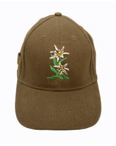 Racing  Mütze - Cap grün Edelweiss
