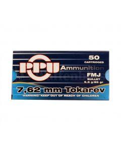 Partizan PPU .7,62x25 TT Tokarev 85grain