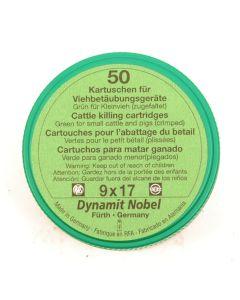 RWS Dynamit Nobel Viehschuss 9x17mm Kleinvieh grün