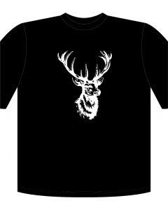 Rafco T-Shirt Hirsch schwarz