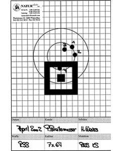 Schussbild Jagdwaffen