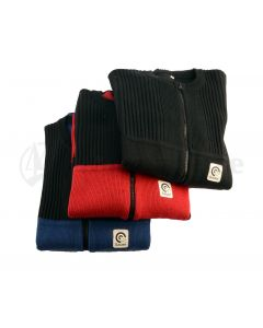 SAUER Strickjacke - Weste - rot-blau-schwarz