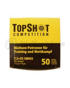 Top Shot 7,5x55 Swiss FMJ 174gr