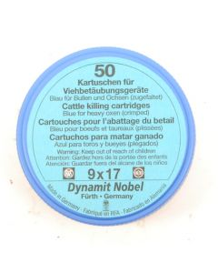 RWS Dynamit Nobel Viehschuss 9x17mm Ochsen blau