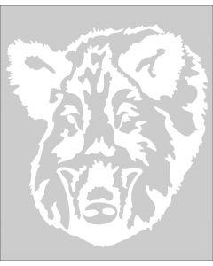 Rafco Autokleber Wildschschwein weiss-durchsichtig