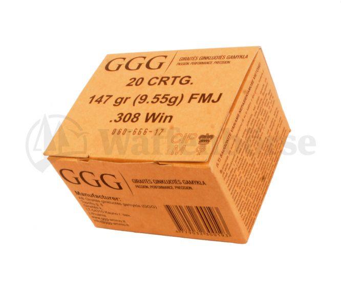 GGG  .308 Winch FMJ 9,55g / 147grain