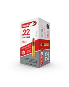 AGUILA Ammunition  Interceptor High Velocity  .22lr  40gr