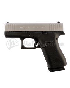 GLOCK 43X FS Silver Slide Pistole 9mm para