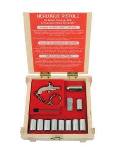 BERLOQUE Pistole silber Stiftzünder und 9mm Leucht