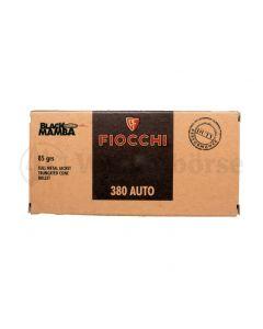 FIOCCHI .380 Auto  FMJTC Black Mamba 85gr