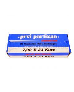 Partizan PPU  8x33 / 7,92x33 FMJ 124grain