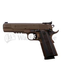 Schmeisser 1911 Hugo bronce Pistole 9mm para + -22lr