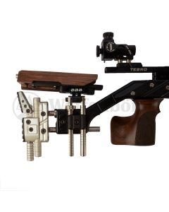 TESRO Matchluftgewehr RS 100 Signum Auflage-Gewehr Black Nussbaum  Pressluft, 4,5mm