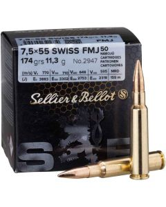 Sellier & Bellot  7,5x55 Swiss FMJ 174gr