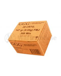 GGG  .308 Winch FMJ 9,55g / 147grain 600 Patronen
