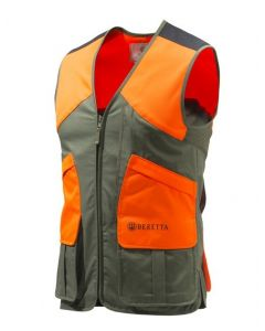 Beretta Wildtrail Schiessweste - Gilet grün/orange mit Reißverschluss