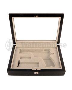 Holzschattulle Exklusiv schwarz  für für SIG Pistole 210