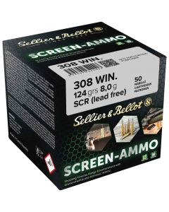 SELLIER&BELLOT Screen Ammo 308 Win FMJ 124grain