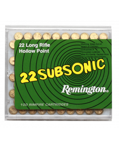 REMINGTON .22 long rifle Subsonic Hollow point