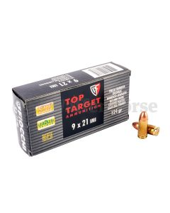 FIOCCHI  9x21 mm RNCP Top Target 124grain