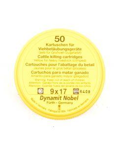 RWS Dynamit Nobel Viehschuss 9x17mm Grossvieh gelb