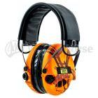 Sordin Aktivgehörschutz Pamir Supreme Pro X -LED Lampe - mit Lederband, Orange-Camo Schalen