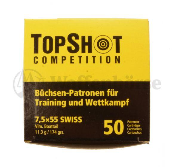 Top Shot 7,5x55 Swiss FMJ 174gr - 11,3g