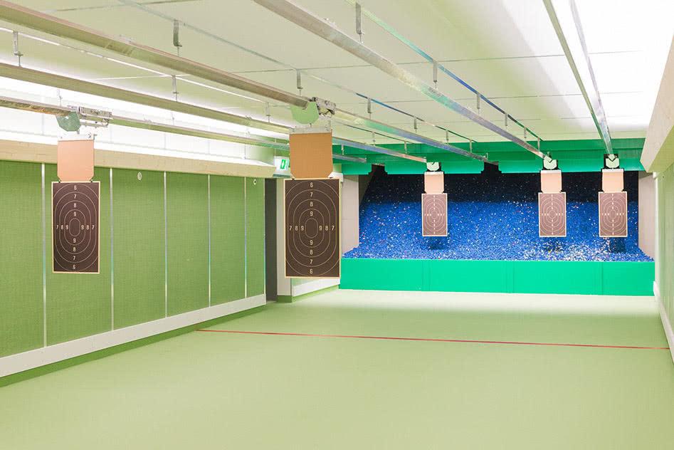 Granulat-Kugelfang Scheiben auf 15 und 25 Meter